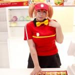 【画像集】蝶月真綾ファーストフード店員のコスプレ